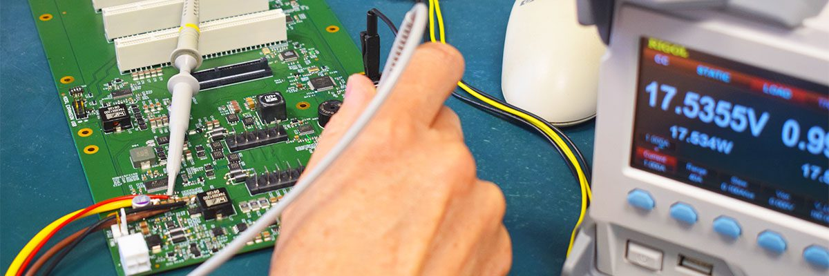 Testing electronic load of circuit board