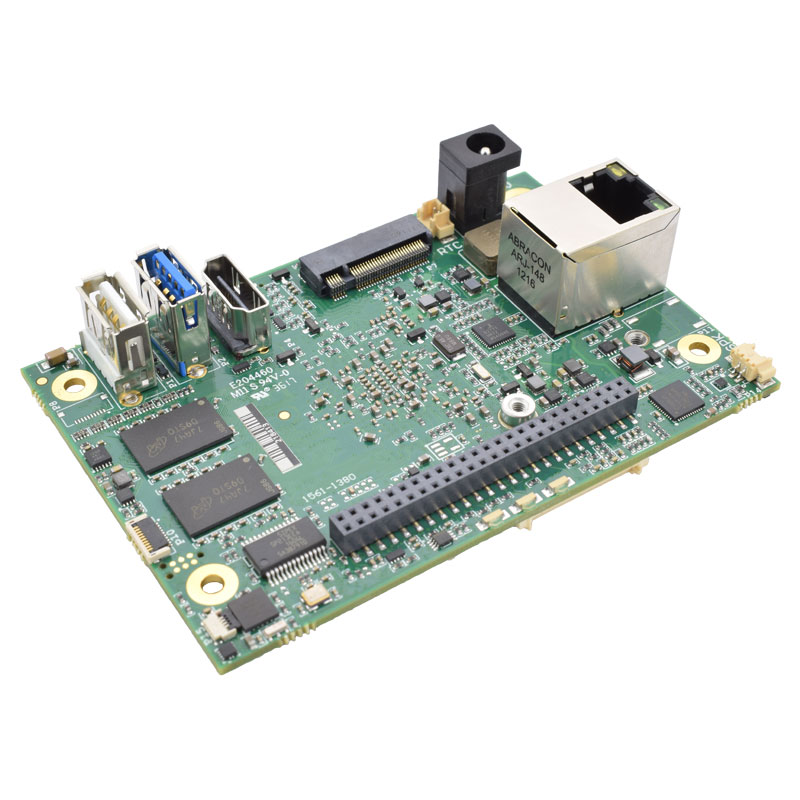 45-degree view of XE1 single board computer.