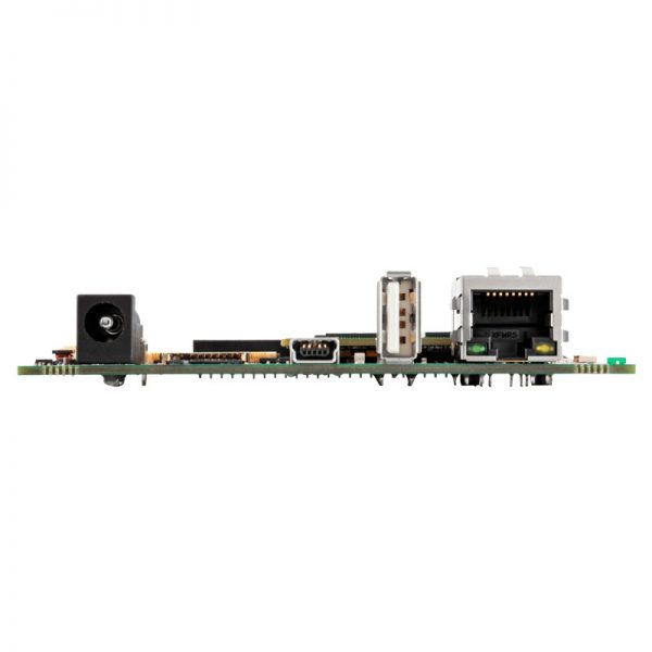 Side view of TM1 module and HB5 carrier board